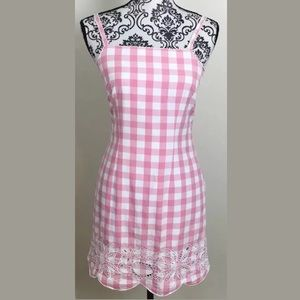 LILLY PULITZER Pink Gingham Check Dress  size 2